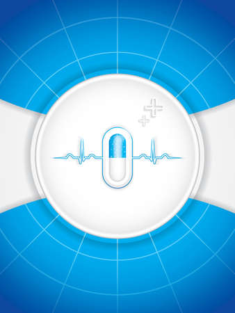 Blue alternative medication concept - Pill vector  Vector