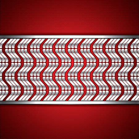 tire cover: Abstract background, metallic red brochure, vector Illustration