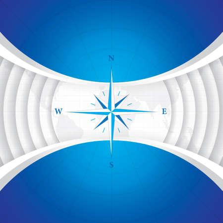compass rose: Vector modern wind rose compass Illustration