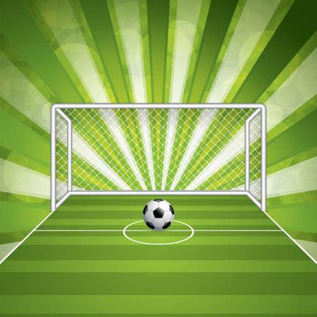 soccer goal: Soccer goal and ball.Vector
