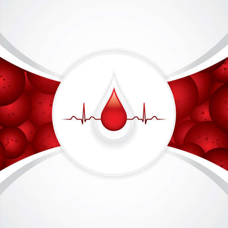 Blood donation vector.Medical background Vector