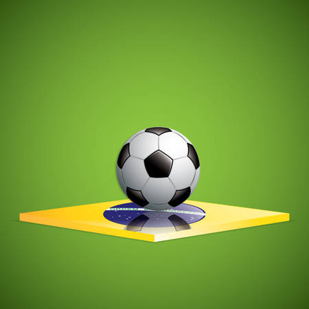 Soccer ball background.Brazil flag concept vector Vector