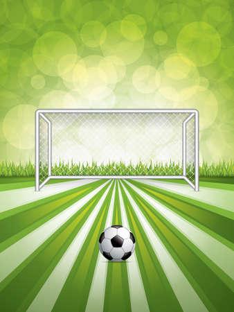 soccer goal: Soccer goal and ball