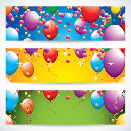 Birthday banners Vector