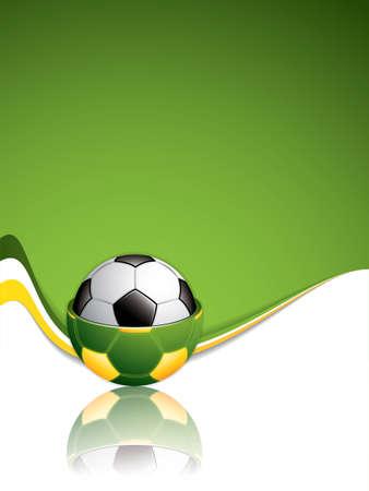 サッカー ボールの背景。ベクトル