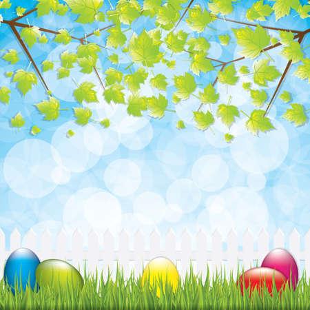 Easter background.Vector Vector