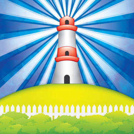 bush mesh: Lighthouse.Vector Illustration Illustration
