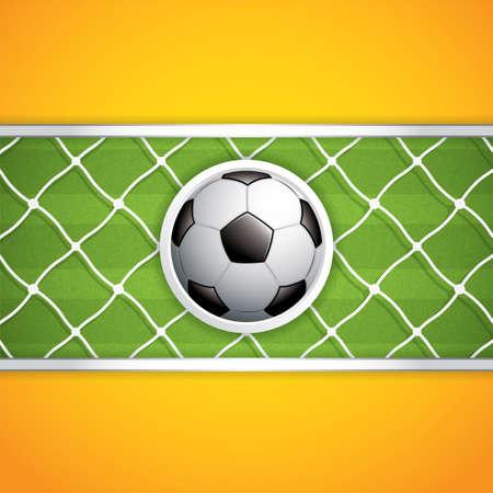 soccer net: Soccer ball background.