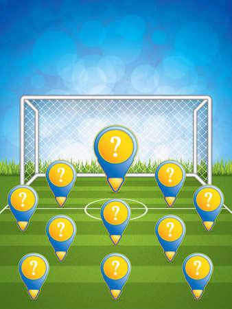 playoff: Soccer Stadium.Vector Illustration