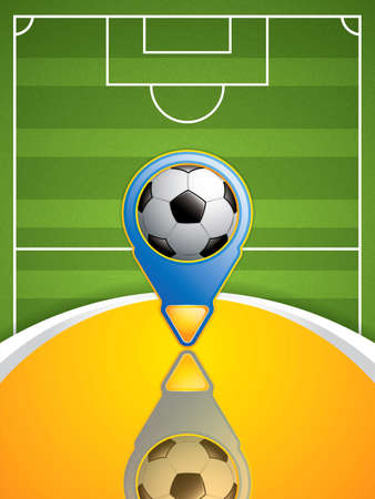 grandstand: Soccer pointer.Vector Illustration