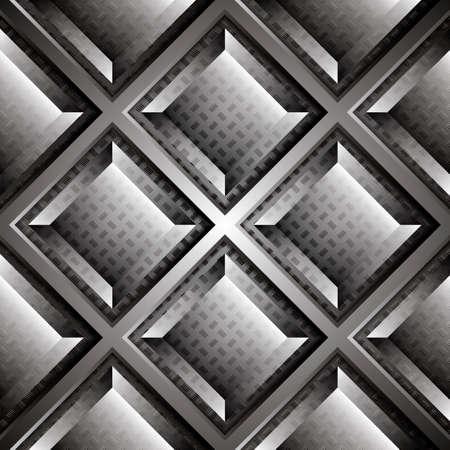 Abstract background, metallic brochure, vector Vector