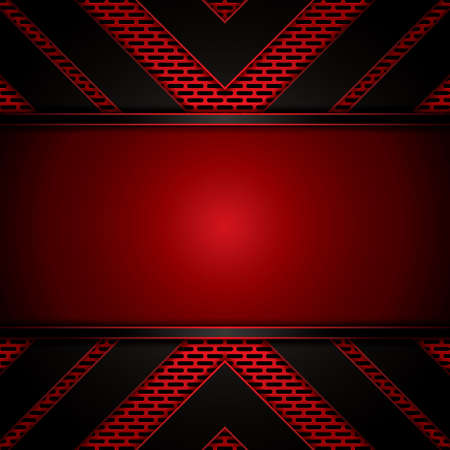 Abstract background, metallic red brochure Illustration