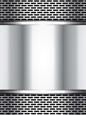 grille: Abstract background, metallic brochure Illustration