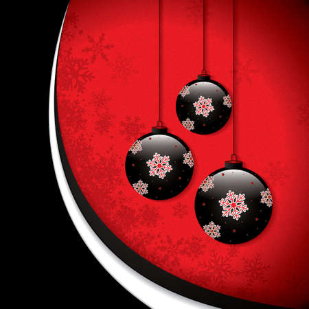 Christmas background with baubles.Vector Vector