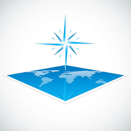 Vector modern wind rose compass Illustration