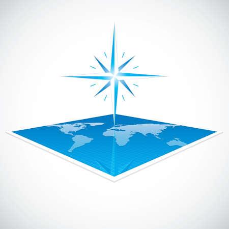 north star: Vector modern wind rose compass Illustration