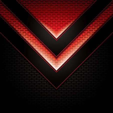 metallic background: Abstract background, metallic red brochure, vector Illustration