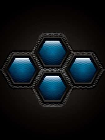 metallic background: Abstract background, metallic blue brochure, vector Illustration