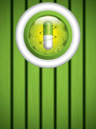 medication: Alternative medication concept - herbal pill vector