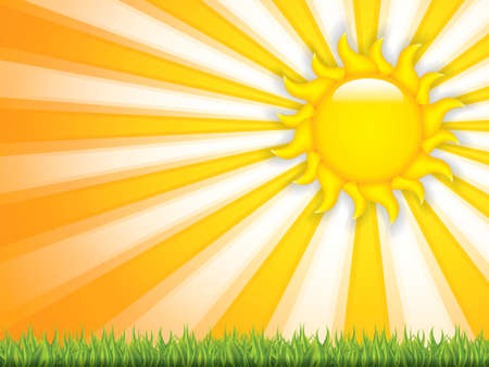 sunstroke: Summer background.Vector