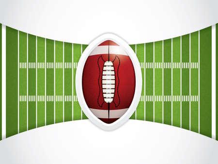 grass field: A vector grass textured American football field Illustration