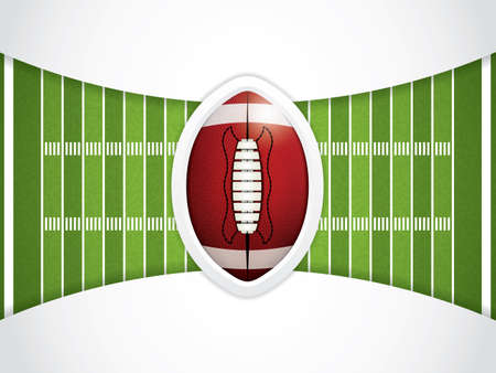 american football stadium: A vector grass textured American football field Illustration