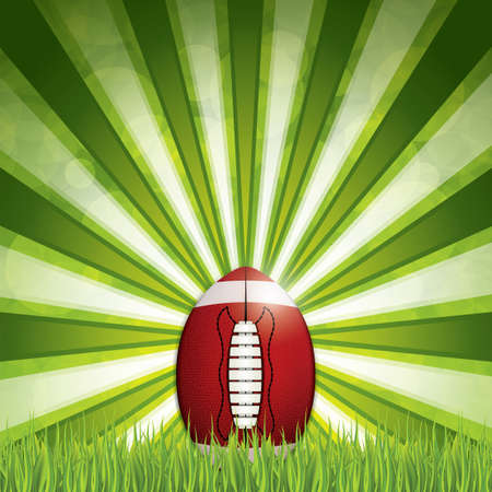 lacing: American football. Vector illustration