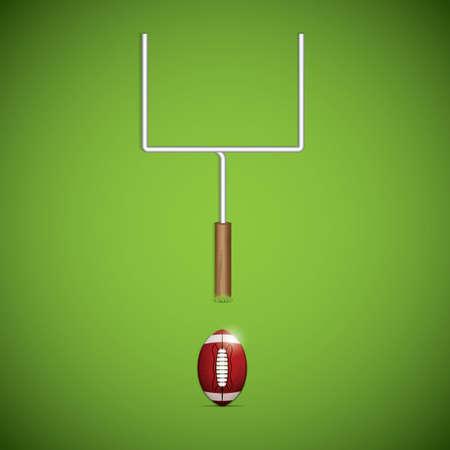 lacing: American football goalpost. Vector illustration Illustration
