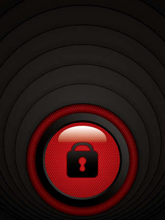 unlock: Abstract red background - user interface unlock vector Illustration