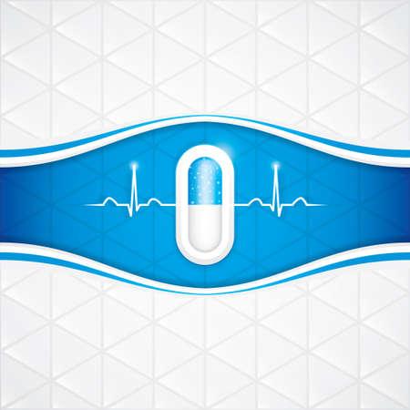 medication: Blue alternative medication concept - Pill vector