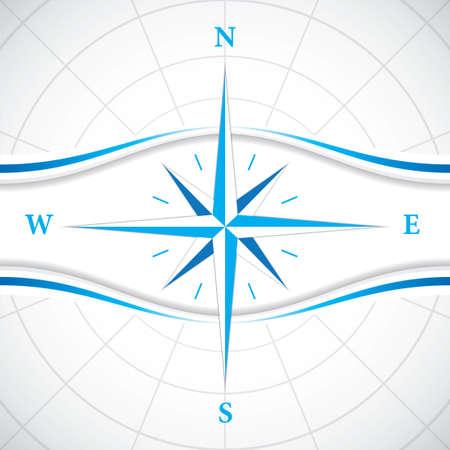 Vector modern wind rose compass Vector