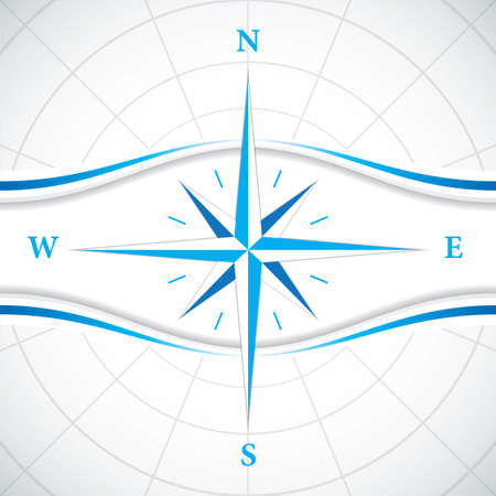 wind rose: Vector modern wind rose compass Illustration