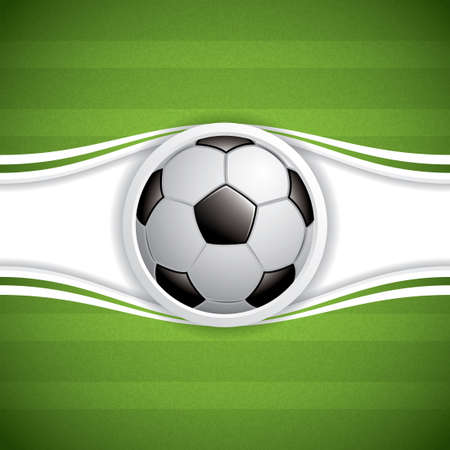 Soccer ball brochure. Vector