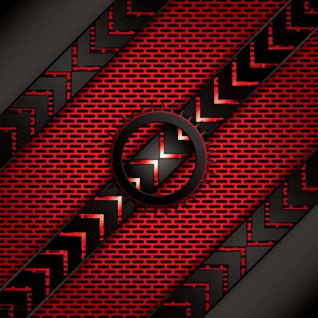 metallic: Abstract background, metallic red brochure, vector Illustration