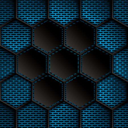 metallic: Abstract background, metallic blue brochure, vector Stock Illustratie