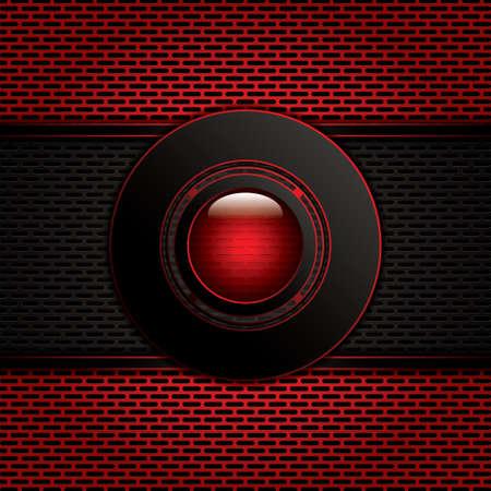 metallic: Abstracte achtergrond, metallic rood brochure, vector