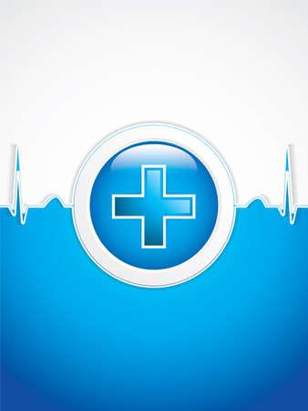simbolo medicina: Médico background.Vector