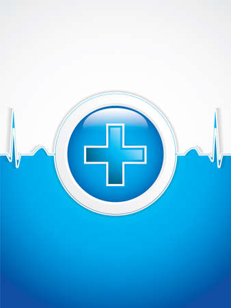 medical emergency service: Medical background.Vector