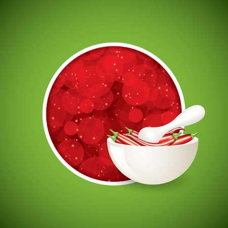 cayenne: Vector vegetables. Pepper Illustration