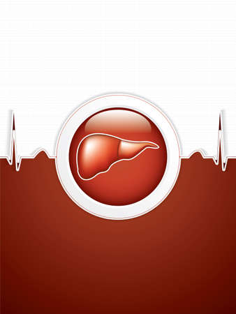 dialysis: Liver background.Vector Illustration