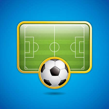 sideline: Soccer field emblem.Vector Vectores