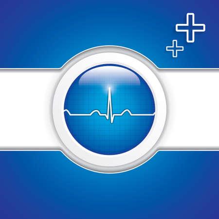troubleshooting: diagnóstico azules del vector button.Medical