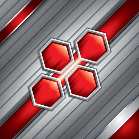 aerodynamic: Abstract background, metallic red brochure, vector Illustration