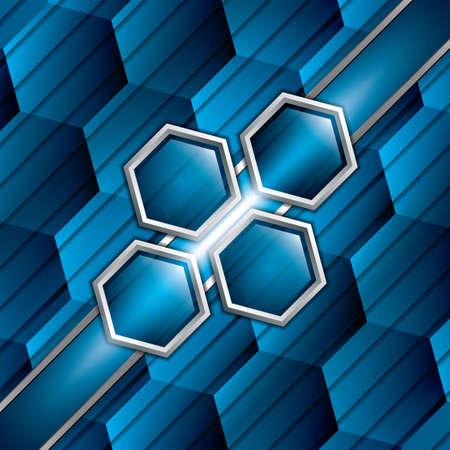blue metallic background: Abstract background, metallic blue brochure, vector Illustration