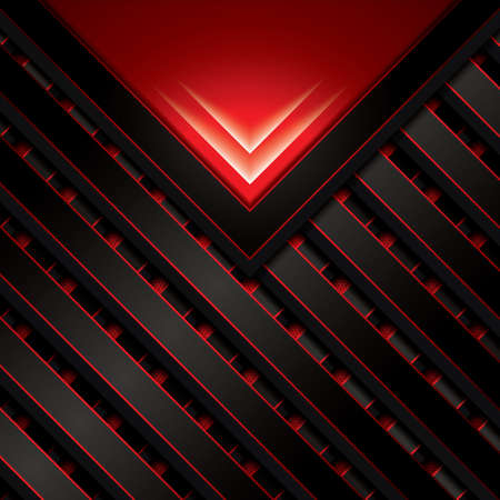 abstract shape: Abstract background, metallic red brochure, vector Illustration