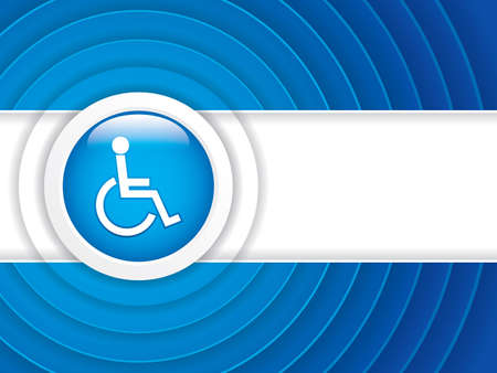 Disabled persons supporting hospital brochure - medical background