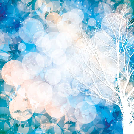 fall winter: Winter background with lighting effect.Vector