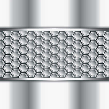 metallic background: Abstract metallic background - steel style vector Illustration