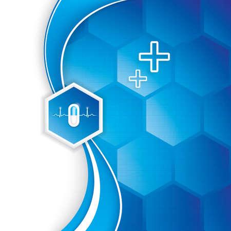 Vector abstract Gesundheitswesen Innovation Konzept Hintergrund