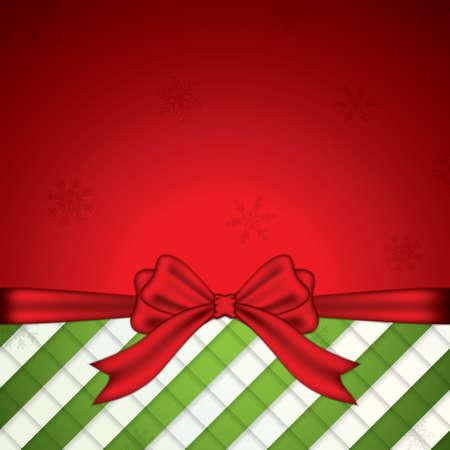 bow ribbon: Holiday background with ribbon ribbon and bow Illustration